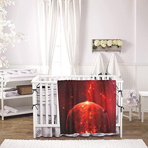 ZORIN Mantas de bebé para niños niñas planeta rojo universo espacial quema bebé recién nacido manta suave y cálido cochecito cuna recibir manta infantil