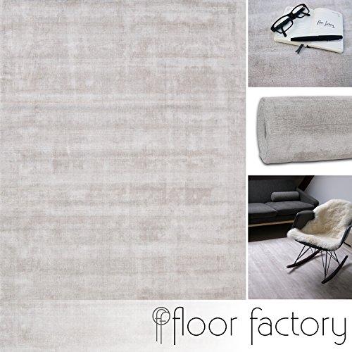 floor factory Moderner Teppich Lounge beige Creme 120x170cm - edler Designer Teppich im Vintage Look