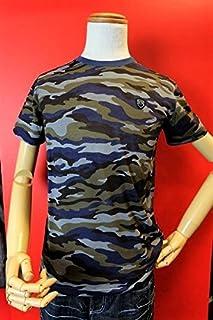 【バラシモーダ】【barassimoda】【半袖Tシャツ】【春夏アウトレットセール50% OFF】【メンズ】【ブランド】【Tシャツ】【メンズファッション】【バラシ服】 迷彩柄半袖Tシャツ ブルー