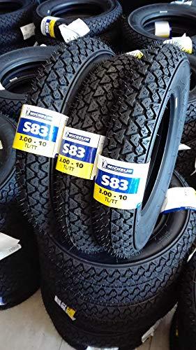 Trois pneus Michelin S83 3.00-10 42J S83 Vespa Special 50 PK