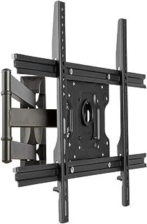 TV-väggfäste i rostfritt stål med hylla för de flesta 32-58 tum platta böjda TV-apparater, utbytesstativ upp till 31 kg lu...