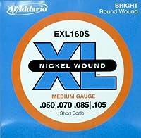 D'Addario ダダリオ ベース弦 ニッケル Short Scale .050-.105 EXL160S 【国内正規品】