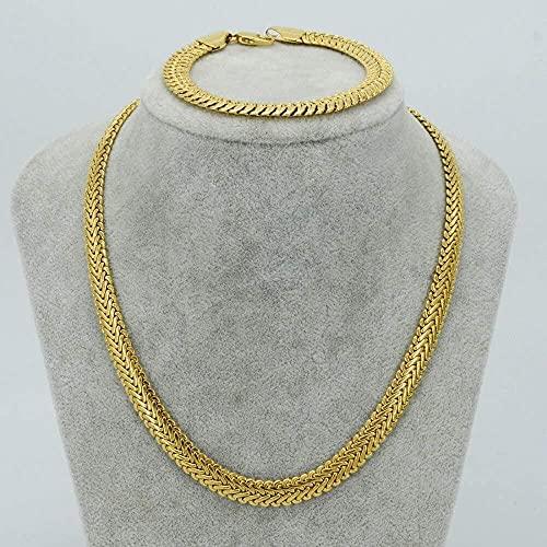 NC134 Conjunto de Pulseras de Collar Grueso para Hombres de África, joyería de Cobre de Color Dorado, Cadena de Hip Hop, etíope/árabe/Medio Oriente