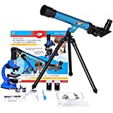 IDS Home Eastcolight Deluxe Microscope and Telescope Educational Kit Set,...