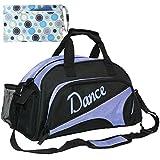 kilofly Girl's Ballet Dance Sports Gym Duffel Bag Travel Carry On + Handy