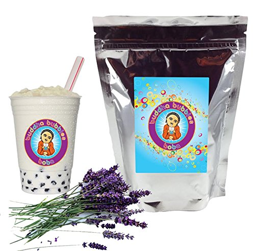 Lavender Boba / Bubble Tea Drink Mix Powder By Buddha Bubbles Boba 10 Ounces (283 Grams)