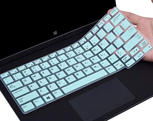 HülleBuy Tastaturabdeckung kompatibel mit Dell Latitude E7250 E7270 7280 7290 E5250 E5270 12,5 Zoll / Dell Latitude 7370 7380 7389 7390 13,3 Zoll Laptop Anti-Staub Wasserdicht Schutzfolie Skin Mintgrün