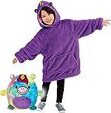 Awaiting Joy Blanket Sweat-shirt à capuche avec poche géante pour animaux domestiques, peignoir, pyjama, taille unique