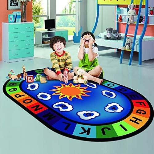 Teppich Digitale Lernbriefe FüR Kinder Lernkollektion Spielunterlage 3D-Druck Polyester Weißh FüR Kinderspiel- Und Unterrichtsmatten,120  200cm