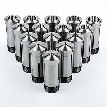 Hex Collet Block Square Collet Block and Collet Closer for 5C Round Hex Square Collets KEILEOHO 5C Collet Block Set