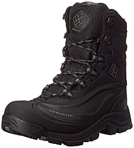 Columbia Men's Bugaboot Plus III Omni-M Snow Boot, Black/Charcoal, 8 D US