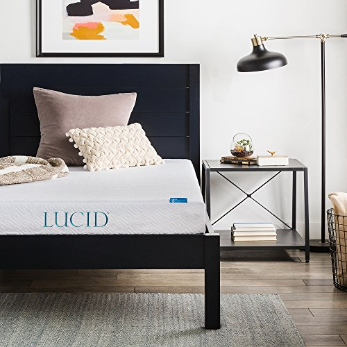 LUCID 6 Inch Gel Infused Memory Foam Mattress - Firm Feel - Perfect...