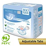 EGOSAN Ultra Incontinence Disposable Adult Diaper Brief Maximum Absorbency and Adjustable Tabs for Men and Women (Large, 15-Count)