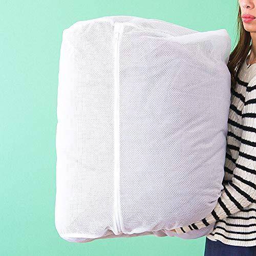 洗濯ネット ランドリーネット ドラム式 筒型 立体 60cm×直径48cm 毛布 敷きパッド タオルケット