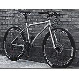 24 bicis de la velocidad 26 pulgadas de camino de la bicicleta delantera y trasera Bicicletas marco de acero al carbono de alta bicicletas de carretera Hombres Mujeres bicicletas for adultos carreras
