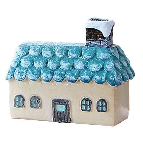 Vi.yo Nette Miniaturen Hause Holzhaus Figur DIY Dekor Micro-Landschaftsdekoration
