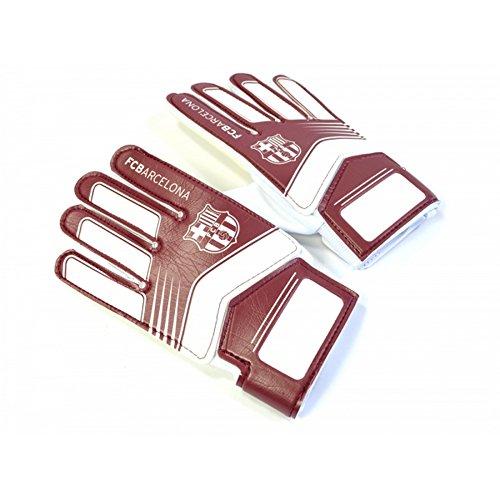 FC Barcelona Kinder/Jugendliche Fußball Torwart Handschuhe (Youths (9-14 Jahre)) (Burgunder/Weiß)