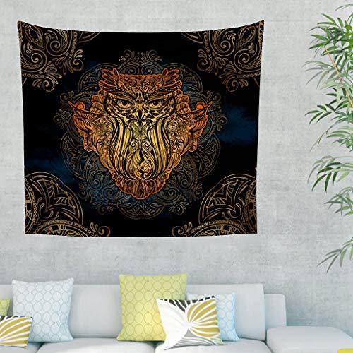 O5KFD & 8 Owl Mandela design tapijt Gothic klein gordijn - Owl Mandela patroon print voor studentenhuis