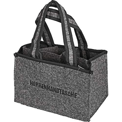 all-around24 Filz Herrentasche Bottlebag Herrenhandtasche, Filztasche, Flaschentasche,Flaschenkorb Flaschenträger (1)