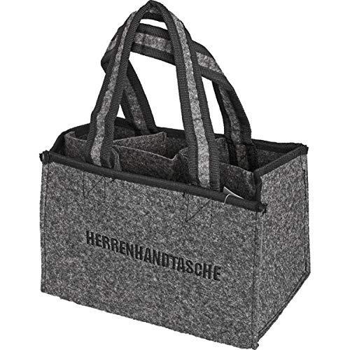 all-around24 Filz Herrentasche Bottlebag Herrenhandtasche, Filztasche, Flaschentasche,Flaschenkorb Flaschenträger (1)