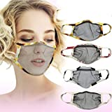 7 Days Fast Shipment Adults_Face_Mask_Cover Fashion Printed Mesh Face Bandanas Facial Fabric Scarf Breathable Reusable Washable for Outdoor (A)