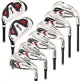 Ram Golf Accubar Mens Clubs All Graphite Iron Set 6-7-8-9-PW-SW with Hybrids 24° and 27° - Stiff Flex