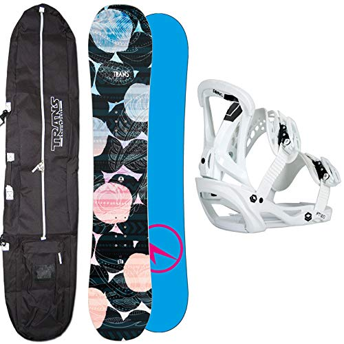Unbekannt Damen Snowboard Set Trans LTD Black 143 cm 2019 + FTWO Sonic BINDUNG GR. M + Bag