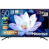 ハイセンス 50V型 4K対応 液晶 テレビ 50F68E ダブルチューナー 外付けHDD 裏番組録画対応 3年保証 HDR
