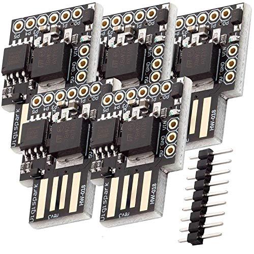 AZDelivery 5 x Digispark Rev.3 Kickstarter mit ATTiny85 und USB kompatibel mit Arduino inklusive E-Book!