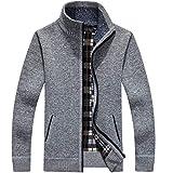 HOSD Winter Warm SweaterCremallera de Lana Casual Sweater Hombres de Punto Sweatercoat...