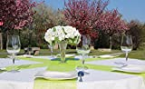AmaCasa Vlies Tischläufer Apfelgrün 23cm/25 Meter Flower Vlies Tischband Hochzeit Kommunion - 5