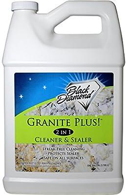 Black Diamond Stoneworks GRANITE PLUS! 2 in 1 Cleaner & Sealer for Granite, Marble, Travertine, Limestone, Ready to Use!
