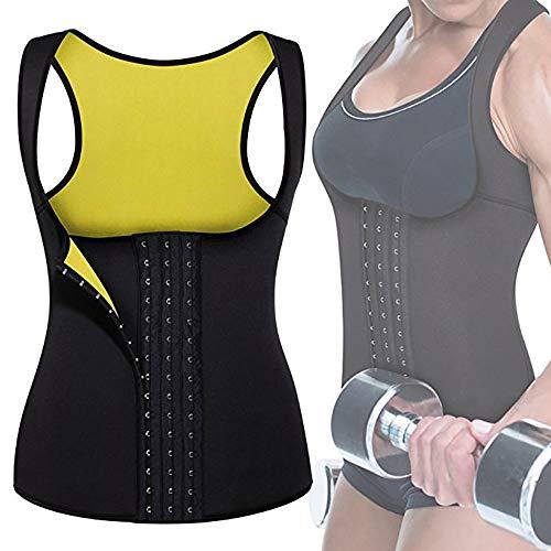 Garing Chaleco Neopreno Sauna, Faja Adelgazante Mujer, Mujer Corsé Chaleco de Sudor Pérdida de Peso Cuerpo Ajustable Shaper Workout Tank Tops