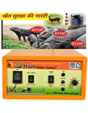 UTTAM Zatka Machine Solar Fence Energizer (50 Bigha) (20 Acre Cover) (Fully Automatic) Zatka Solar Fence Security Systems for Agriculture (Animal Protection System)