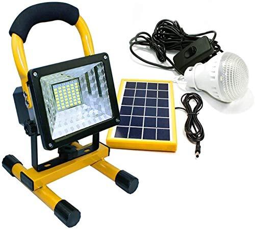 Foco Led Bateria Floodlight LED 50W 48 LEDS Super Bright Fundlight Portable Lámpara de trabajo recargable con la línea de interruptores de bombilla es de 4,8 metros de largo luces de seguridad LQHZWYC