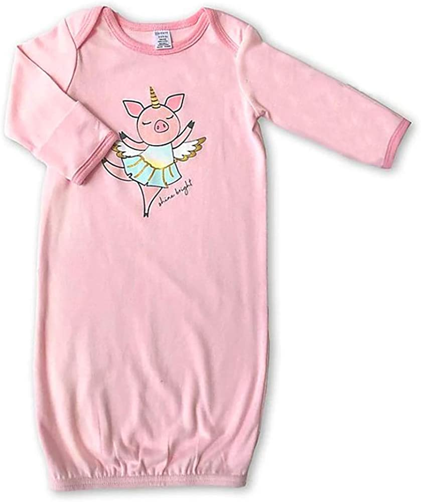 MODERN BABY Newborn Gown Sleeper for Baby Girls Infant 0-3 Months One Size Long Sleeve Nightgown