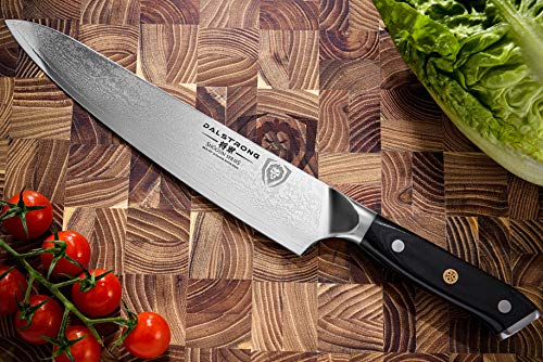 "DALSTRONG Chef's Knife - 9.5"" - Shogun Series - Damascus - Japanese AUS-10V Super Steel - Vacuum Treated - G10 Handle -w/sheath"