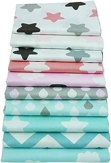 10piece los 40cm * los 50cm y los zigzag imprimieron los paquetes superiores de la tela de algodón, tela que acolchaba para coser artes