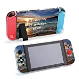 SUPNON Carry Case Compatible with Nintendo Switch, Ultra Slim Hard Shell, Protective Carrying Case for Travel - Life Inspirational Quotes Everyday is A Design30706