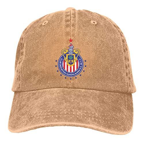 Guadalajara Chivas Gorras de béisbol Ajustables Sombreros de Mezclilla Sombrero de Vaquero Retro Gorra para...