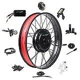 EBIKELING Ebike Conversion Kit 48V 1500W 26' Fat Tire Direct Drive Waterproof Electric Bike Conversion Kit - Ebike Kit - Hub Motor Kit S830 LCD Display (Rear/LCD/Twist)