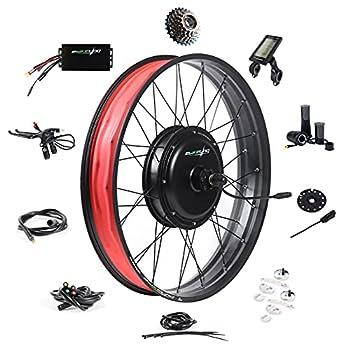 EBIKELING Waterproof Ebike Conversion Kit 48V 1500W 26  Fat Tire Direct Drive Electric Bike Conversion Kit - Rear Wheel Electric Bicycle Hub Motor Kit  Rear/LCD/Twist