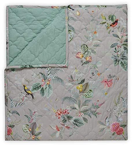 Pip Studio Tagesdecke Floris Farbe Khaki Größe 220x260 cm