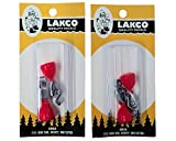 Lakco Depth Finders - Red-Orange - #832 (2 Packs of 2)