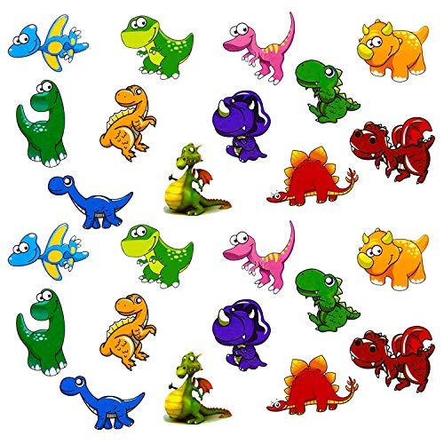Oblique Unique® Kinder Dino Sticker Set Farbenfrohe Dinosaurier Aufkleber zum Spielen Basteln Spielspass Kindergeburtstag