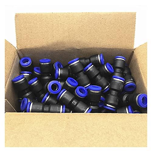 ZHANGKE 100pcs / Paquete PU Accesorios Neumáticos I Tipo Conector Recto De 2 Vías para 4 Mm 6 Mm 8 Mm 10 Mm 12 Mm Tubo (Color : 6mm)