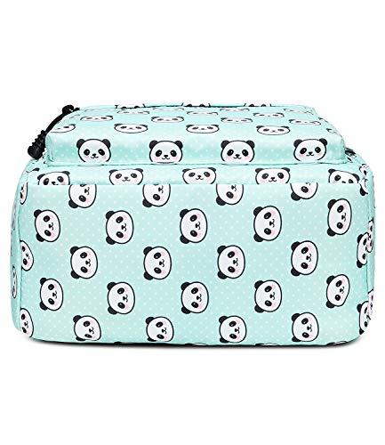 Abshoo Panda Printed School Backpacks For Girls Cute Elementary School Bookbags (1pc Panda Teal)