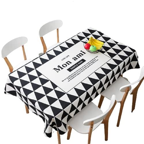 Restaurante Mantel Antiincrustante Mantel De Poliéster Impermeable Rectangular Mantel De Cocina para Mesa Cuadrada Decoración De Jardín Interior Y Exterior Navidad Fiesta De Halloween 85x85cm