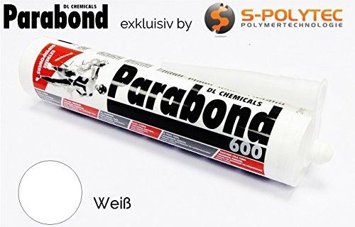 PARABOND 600 MS Polymer Kleber, Dichtstoff, Alleskleber, Montagekleber, 290ml Bootsbau, Karosseriekleber TOP QUALITÄT (weiß)