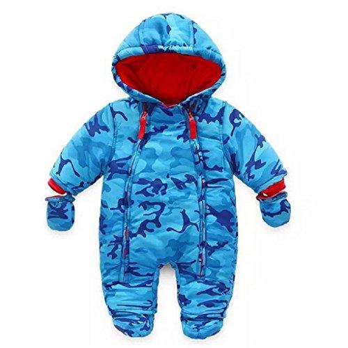 Bebé Traje de Nieve Niño con Capucha Mameluco Cremallera Frontal (6-9 Meses)